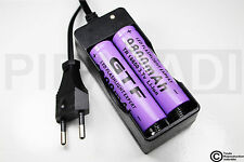 .CHARGEUR RX-77 + 2 PILES ACCU RECHARGEABLE 18650 3.7v 9800mAH BATTERY BATTERIE