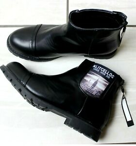 WOMENS BLACK CHELSEA FASHION FAUX LEATHER CASUAL SHOES ANKLE BOOTS SIZES UK 3-8