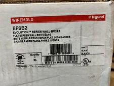 EFSB2 WireMold Legrand Flat Screen Wall Box 2 Gang Evolution Series Wall Box New