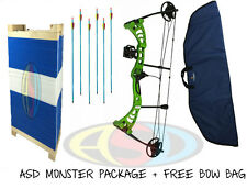 ASD Green Monster Compound Archery Bow Package-Target Inc Target W/ Free Bow Bag