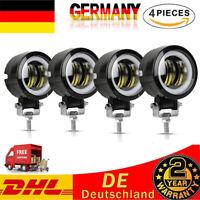 4X 20W LED Arbeitsscheinwerfer 12V 24V Offroad Scheinwerfer Motorrad SUV Lampe