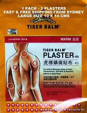 TIGER BALM PLASTER PATCH  WARM  2 PLASTERS 10 X 14 CMS SYDNEY STOCK FAST SHIP