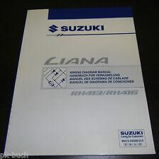 Werkstatthandbuch Wiring Diagram Manual Elektrik Suzuki Liana RH 413 RH 416