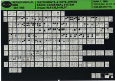 Audi 5000 1984-1988_Repair Manual_instruments-lights-wipers ..._Microfich_Fich