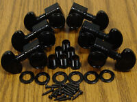 NEW Grover LOCKING BLACK TUNERS 3x3 for Gibson Les Paul SG Guitar TK-7935-003