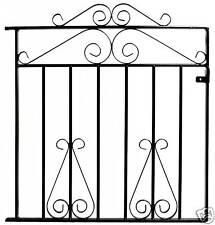 WROUGHT IRON METAL GARDEN SIDE GATE Mayfair 3ft