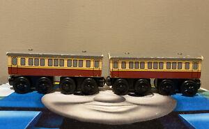 Thomas & Friends Wooden Railway Train Express Coach x2 (2003) - Rare
