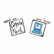 Computer Nerd Cufflinks by Sonia Spencer, Geek, RRP £20