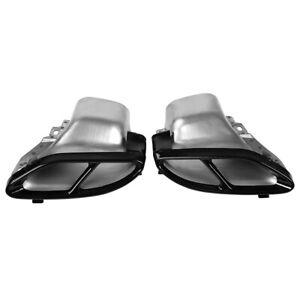 2pc Exhaust Pipe Tips For Mercedes Benz W176 W246 W205 W212 X253 W166 X166 14-18