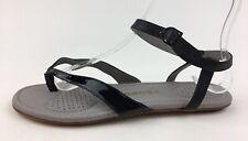 TSUBO BELLAH Flat Sandals Women's Size 7, Black Leather 2240