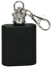 1oz. Stainless Steel Flask Key Chain (Black)