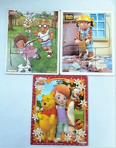 3 Playskool Wooden Puzzles My Friends Tigger & Pooh Bob The Builder & Arthur 209