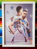 ✺Framed✺ BEN SIMMONS Philadelphia 76ers NBA Basketball Poster - 45 x 32 x 3cm