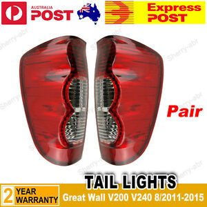 For GREAT WALL V200 V240 UTE 8/2011-2015 Pair of LH+RH Tail Light Rear Lamp New