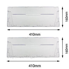 Plastic Drawer Cover Panel Flap Front for Indesit CA55 CAA55 Fridge Freezer x 2
