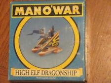 Warhammer Man O' War High Elf Dragonship Retired Boxed
