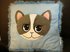 Cat Kitten Plush Pillow Face on one side Tail on other side 14x14
