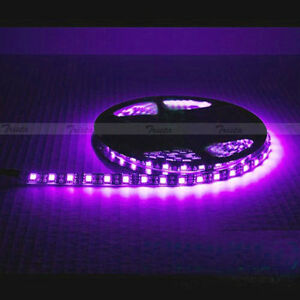 Waterproof Pink 5M 300 Leds Lamp 5050 SMD LED Flexible Strip Light 12V Black PCB