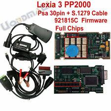 Lexia 3 Diagnosegerät Citroen Peugeot ink 30 Pin Kabel u. S.1279 Modul FULL CHIP