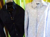 lot T M=39/40 belles   chemises grises ,noires homme