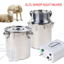 Portable Electric Sheep Goat Milking Machine 5l Storage Plugin Milking Pump 110v
