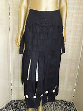 """NWT TRELISE COOPER BLACK DISTRESSED DRESS SKIRT """"SULTAN WEAVE A TAIL""""  8"""