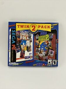 New Sealed Twin Pack Sega Smash Pack 1 & 2 Sonic Activision PC CD-ROM