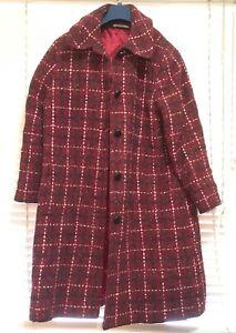 BASSANT PARIS Vintage Winter Wool Coat Size 12-14 Used