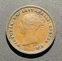Old Foreign World Coin: 1843 Great Britain Half Farthing, Victoria