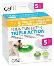 Catit 2.0 TRIPLE ACTION Filter 5er-Set Vorteilspack für Trinkbrunnen