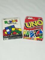 Uno Card Game with Customizable Wild Cards and Rubiks Battle Bundle NEW
