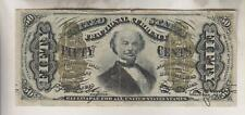 VINTAGE UNITED STATES FRACTIONAL CURRENCY - 3rd ISSUE 50 CENT SPINNER NOTE
