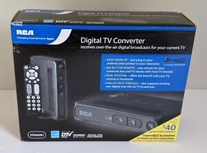 RCA DTA800B1 Digital-to-Analog TV Converter Box Smart Antenna Ready New