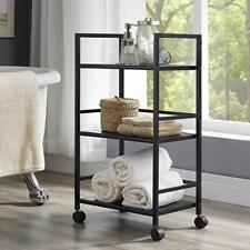 3-Tier Rolling Cart Serving Utility Organization Kitchen Bath Cart Black