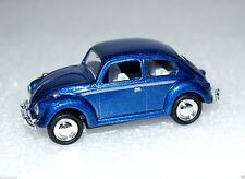 """1967 Small Diecast Scale Blue Color 2.5"""" Miniature Volkswagen Classical Beetle"""