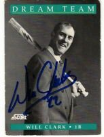 Will Clark San Francisco Giants Autographed Signed 1991 Score Dream Team Card!