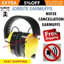 Jobsite Earmuffs Radio AM FM Headset AUX IN Noise Reduction Work Safety Ear Muff