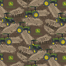John Deere Dirt Magnet Tractors 100% Cotton Fabric by the Yard