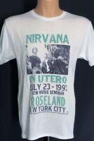 Nirvana T Shirt Kurt Cobain New York Concert Tour Distressed Vintage Style Rare