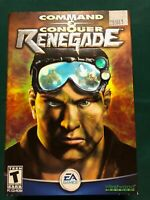 Command & Conquer Renegade PC CD-ROM Game EA Games Westwood Studios New Sealed