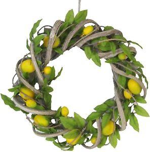 Gisela Graham Artificial Lemon Twig Door Wreath 37cm