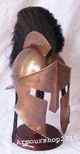 300 King Leonidas Spartan Helmet Greek Warrior Costume Helmet w Black Plum