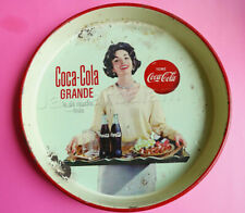 Vintage Mexican Mexico Soda Coca Cola Tray Big Bottle Beautiful Woman PinUp 1959