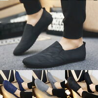 Men's Casual Slip on Leather Soft Flat Loafers Sports Lazy Flats Driving Shoes S