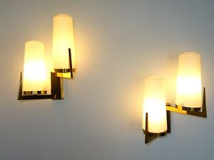 ancienne applique LUNEL sconce french wall light design 1950 disderot arlus