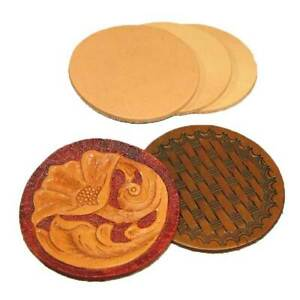 """Leather Rounders 3-1/8"""" - 3, 25 or 100 Packs"""