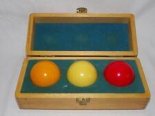 Billard Balls Pool Balls im Holzkastn - 3 Ball Set Selten RAR