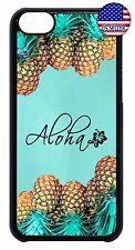 For Apple iPod 4 5 6 New Slim Back Hard Case Cover Pineapple Aloha Hawaii