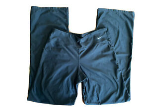 Nike Dri-fit Women's Small Wide Leg Leggings Black Athletic Pants Gym Solid