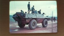 Vietnam War Color Slide w/ Soldiers Cadillac Gage Commando M706- Military -35mm